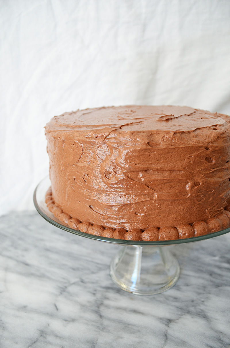 Chocolate Cake Chocolate Ganache Chocolate Buttercream Frosting | Sprig and Flours