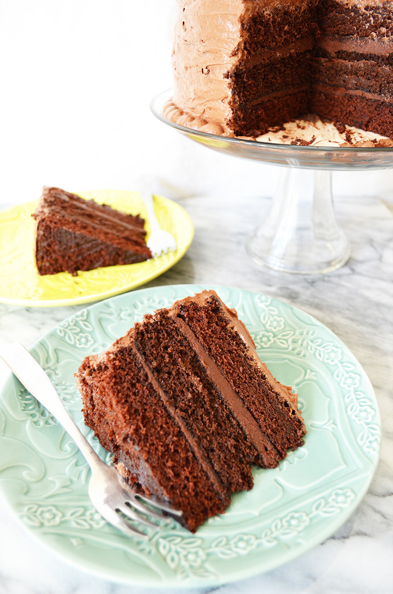 Chocolate Cake with a Chocolate Ganache Filling and Chocolate ...