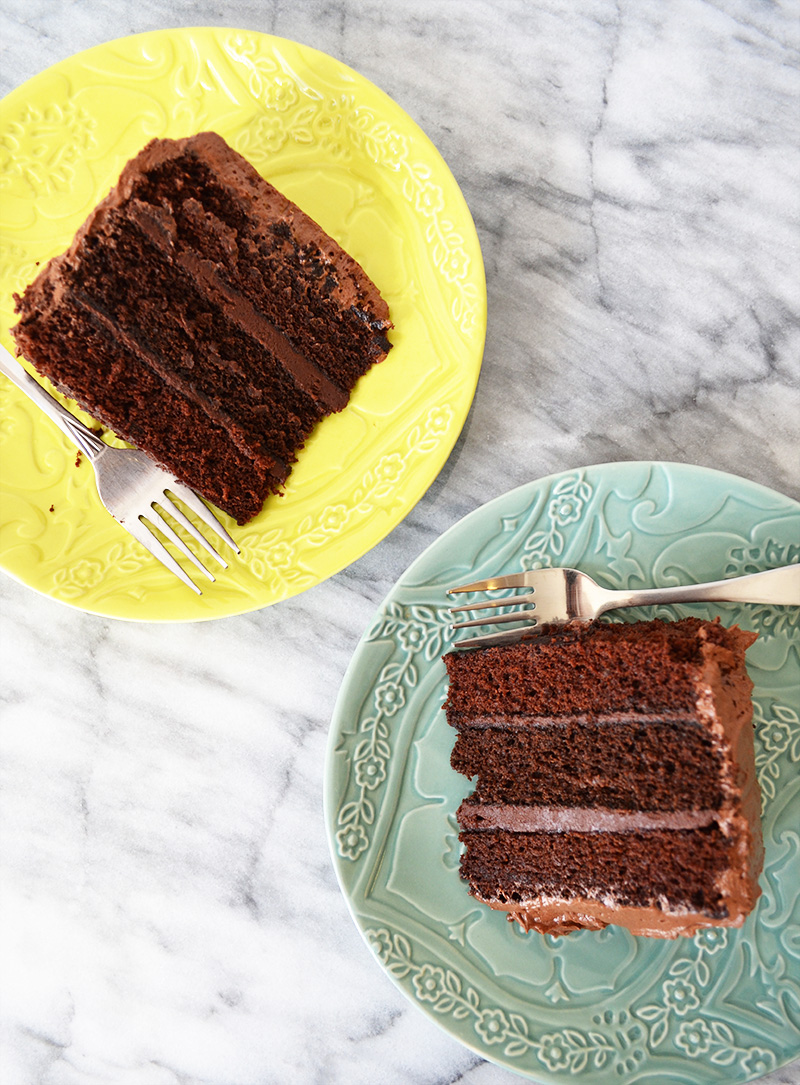 Chocolate Cake Slices | Sprig and Flours