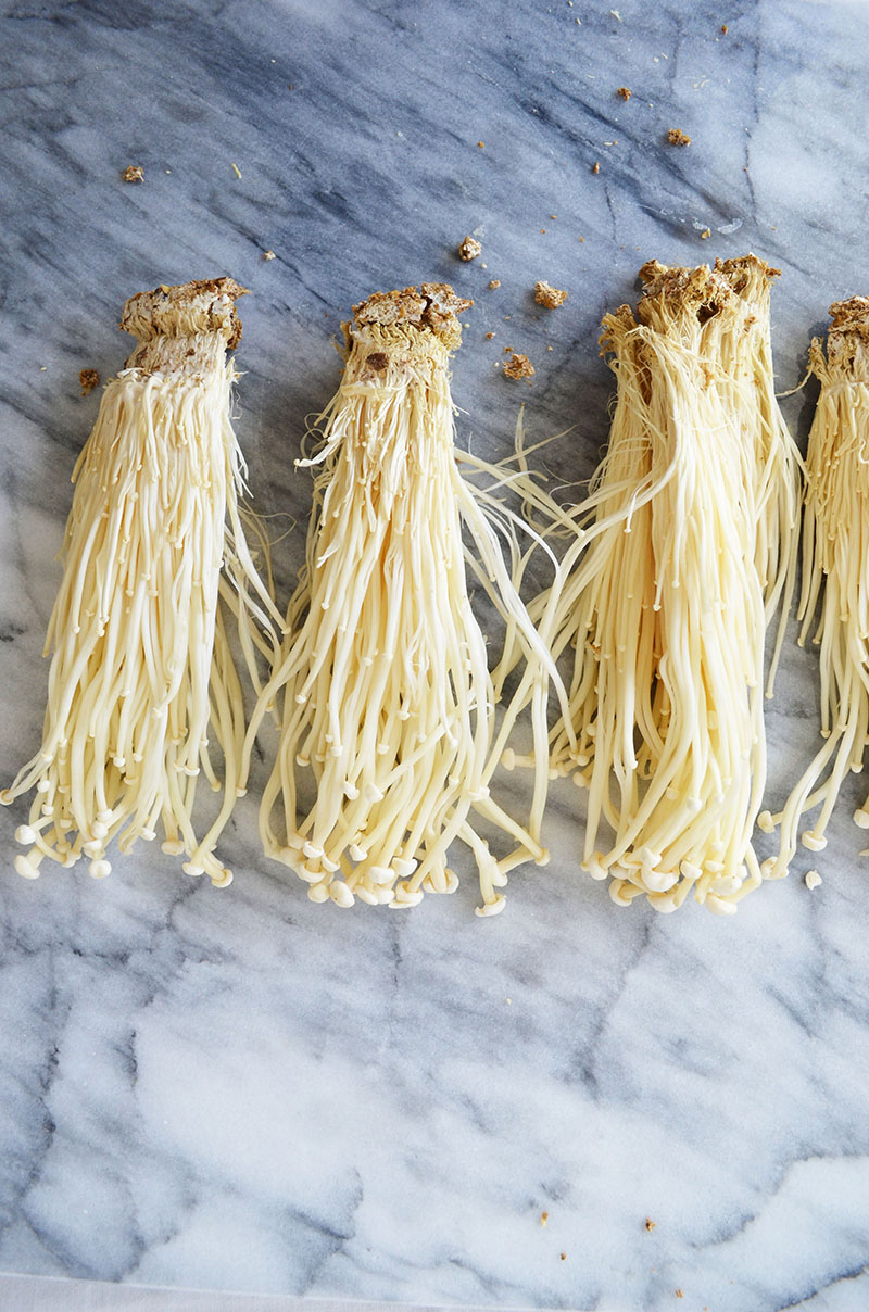 Enoki Mushrooms | Sprig and Flours