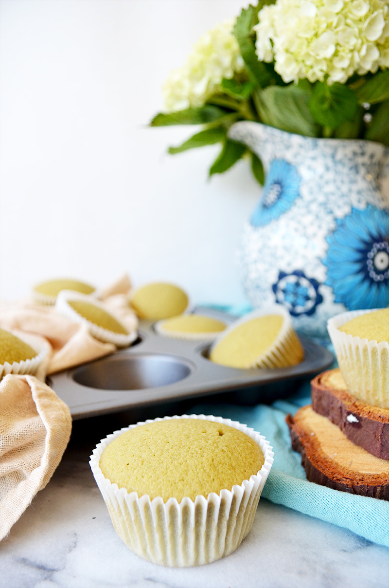 Green Tea Cupcakes Unfrosted 2 | Sprig and Flours